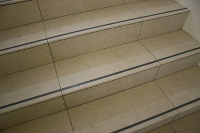 K Grip applied to porcelain stair nosings